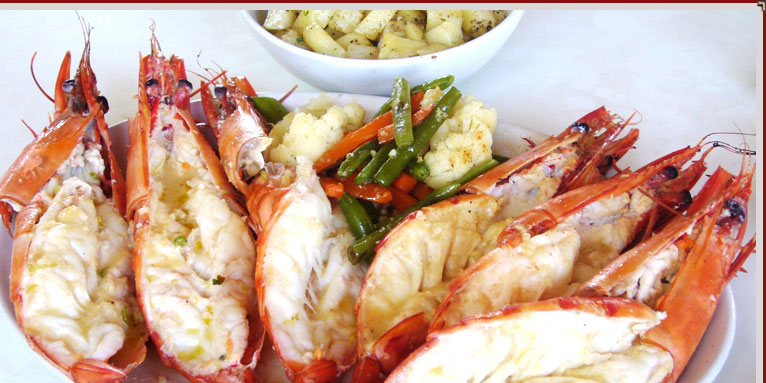 Goa Seafood Cuisine are King Fish, Mackerels, Squids, Baby Prawns, Crabs, Lobsters, Mussels ...